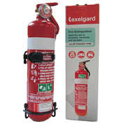Picture of Exelgard Fire Extinguisher, 1kg, BE with Head bracket R968 (UN1044) CLASS2.2, Each Fireworld Fire Extinguisher, 1kg, BE with Head bracket R968 (UN1044) CLASS2.2, Each