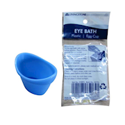 Picture of Livingstone Eye Bath, Blue, Recyclable Plastic Eggcup Type, Single Packed. Livingstone Eye Bath, Blue, Recyclable Plastic Eggcup Type, Single Packed.