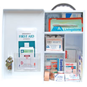 Picture of First Aid Kits-Class B Kits (NSW) Liv First Aid Kit, Class B, Complete Set In Wall Mountable Metal Case, for 11-99 people, Meets Workplace Health & Safety Regulation