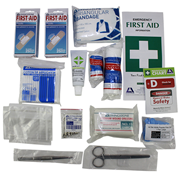 Picture of First Aid Kits-Class C Kits (NSW) Livingstone First Aid Complete Set Refill Only in Polybag, Class C, for 1-10 people, Meets Workplace Health and Safety Regulation