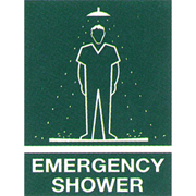 Picture of First Aid-Warning Signs and Labels  Metal Bronson Printed Sign 'Emergency Shower', 450 x 600 mm, Metal, Each