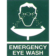 Picture of First Aid-Warning Signs and Labels  Metal Livingstone Printed Sign 'Emergency Eyewash', 225 x 300 mm, Metal, Each