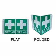 Picture of Printed Sign 'First Aid', 225 x 225 mm, Wall Mount, Polyvinyl Chloride (PVC), Each Printed Sign 'First Aid', 225 x 225 mm, Wall Mount, Polyvinyl Chloride (PVC), Each
