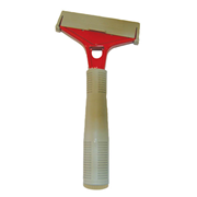 Picture of Healthcare-Cleaning & Waste Supplies Floor Cleaning Divided Pail, 7L Livingstone Floor Scraper, Short Handle, Red Angled, 13.6cm Long, 10cm Blade, Each