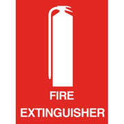 """Picture of Safety Sign, """"Fire Extinguisher"""", 150 x 225mm, Recyclable Polypropylene, Each Safety Sign,"""