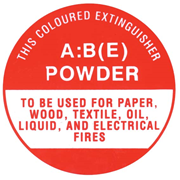 """Picture of Safety Sign, """"Fire Extinguisher AB(E) Powder"""", 190 x 190mm, Each Safety Sign,"""