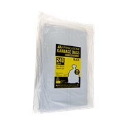 Picture of Cleaning Supplies-Disposal Garbage Bags Black Livingstone Garbage Bag, 240 Litres, 115 x 145cm, 20um, Heavy Duty, Biodegradable, HDPE, Star Seal, Black, 25 per Pack, 200 per Carton