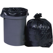 Picture of Cleaning Supplies-Disposal Garbage Bags Black with Star Seal Livingstone Garbage Bag Bin Liner, 75 Litres, 76 x 91.5cm, 28.5 Microns, Heavy Duty, Recyclable LDPE, Star Seal, Black, 250 per Carton