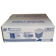 Picture of Livingstone Kitchen Tidy Bin Liners Livingstone Garbage Bag Bin Liner, Recyclable, 18 Litres, 45 x 54cm, 10 Microns, Heavy Duty, Flat Seal, White, 1,000 per Carton