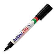Picture of Pharmacy-Office Supplies Pen, Pencils & Markers Markers Artline 70 Artline 700 Permanent Marker, Bullet Point, 0.7mm, Black, 12 per Box