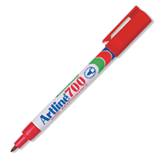 Picture of School-Livingstone Office Writing Instrument Markers Pens    Artline 700 Permanent Marker, Bullet Point, 0.7mm, Red, 12 per Box