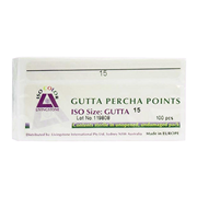 Picture of Dental-Endodontic Products Livingstone Gutta Percha Points, Colour-Coded, ISO 15, 100 Points per Box