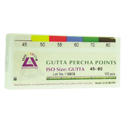 Picture of Dental-Endodontic Products Livingstone Gutta Percha Points, Colour-Coded, ISO 45-80, 100 Points per Box