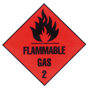 Picture of Sticker Class2 'Flammable Gas' Paper, 50x50mm, 250 per Roll Sticker Class2 'Flammable Gas' Paper, 50x50mm, 250 per Roll