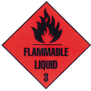 Picture of Sticker Class 3, Flammable Liquid, Biodegradable Paper, 50 x 50mm, 250 per Roll Sticker Class 3, Flammable Liquid, Biodegradable Paper, 50 x 50mm, 250 per Roll