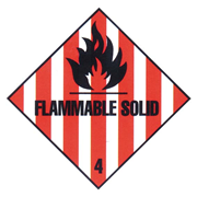 Picture of Sticker Class 3 'Flammable Solid' Biodegradable Paper, 50x50mm, 250 per Roll Sticker Class 3 'Flammable Solid' Biodegradable Paper, 50x50mm, 250 per Roll