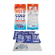 Picture of First Aid - Hot and Cold Packs - Reusable Livingstone Hot & Cold Pack in Pair, 24.5 x 11.5 cm, Tripartite Design with Matching Nonwoven Pouches, Reusable, Non-Staining Gel, 2 per Box
