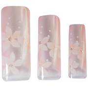 Picture of Hawley Tips Air Brushed Pale Pale Pink Pearl 3 Flowers 70/pk Hawley Tips Air Brushed Pale Pale Pink Pearl 3 Flowers 70/pk