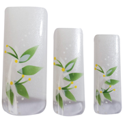 Picture of HAWLEY TIPS AIR BRUSHED WHT SHIMMER,WHT FLOWERS & LEAVES- 70 HAWLEY TIPS AIR BRUSHED WHT SHIMMER,WHT FLOWERS & LEAVES- 70