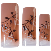 Picture of Hawley Tips Air Brushed Coffee,white Flowers & Branches-70 Hawley Tips Air Brushed Coffee,white Flowers & Branches-70