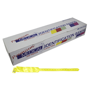 Picture of Identification Bands-Livingstone ID Bands Adult Livingstone Premium Personal Identification ID Bands, Adult, with Name Card, Latex Free, Yellow, 250 per Box