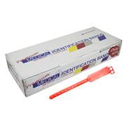 Picture of Identification Bands-Livingstone ID Bands Infant Livingstone Premium Personal Identification ID Bands, Pedia, with Name Card, Latex Free, Red, 250 per Box