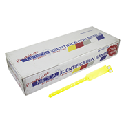 Picture of Identification Bands-Livingstone ID Bands Infant Livingstone Premium Personal Identification ID Bands, Pedia, with Name Card, Latex Free, Yellow, 250 per Box