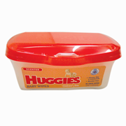 Picture of Healthcare-Personal Care Baby Care Baby Bottles Huggies Natural Care Baby Wipes, 19 x 19cm, with Vitamin E, Scented, Refill, 80 Wipes per Pack