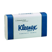 Picture of Towels-Hand Towels and Dispensers Kleenex Kleenex Standard Compact Hand Towel, 30 x 19cm, White, 90 Sheets per Pack, 2,160 per Carton