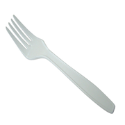 Picture of Recyclable Plastic Forks White 100/pk Recyclable Plastic Forks White 100/pk