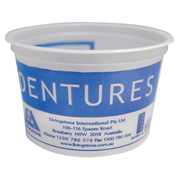 Picture of Oral Health-Oral Care Denture Cups Livingstone Recyclable Plastic Denture Cup, without Lid, 250ml, 1000 per Carton