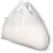 Picture of Food and Packaging Supplies-Singlet Bags White Singlet Shopping Bags, 540 x 300 x 160mm, 15 Microns, Large, White, 2000 per Carton
