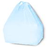 Picture of Food and Packaging Supplies-Singlet Bags Blue Singlet Shopping Bags, 500 x 250 x 120mm, 12 Microns, Medium, Blue, 3000 per Carton