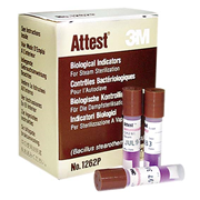 Picture of 3M Attest Biological Indicator for Steam #1262P, Brown Top, 25 per Pack 3M Attest Biological Indicator for Steam #1262P, Brown Top, 25 per Pack