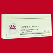 Picture of Dental-Endodontic Products Livingstone Absorbent Paper Points, ISO Size No. 55, 6 Compartments, Biodegradable, Sterile, Red, 120 per Box