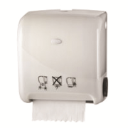 Picture of JAWS INTERLEAVED PAPER TOWEL AUTOMATIC DISPENSER, WHITE, EA Jaws Interleaved Paper Towel Automatic Dispenser, 37.5 x 34.6 x 24cm, White, Each