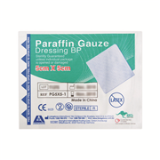 Picture of Dressings-Paraffin Gauze Livingstone Livingstone Paraffin Gauze Swab Dressings, 5 x 5 cm, Sterile Single Pack, 50 per Box