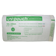 Picture of Uni-Pouch Sterilisation Pouch, with Indicator Strips, 190 x 330mm, 200 per box Uni-Pouch Sterilisation Pouch, with Indicator Strips, 190 x 330mm, 200 per box