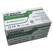 Picture of Uni-Pouch Sterilisation Pouch, with Indicator Strips, 57 x 70mm, 200 per box Uni-Pouch Sterilisation Pouch, with Indicator Strips, 57 x 70mm, 200 per box