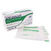 Picture of Uni-Pouch Sterilisation Pouch, with Indicator Strips, 90 x 135mm, 200 per box Uni-Pouch Sterilisation Pouch, with Indicator Strips, 90 x 135mm, 200 per box