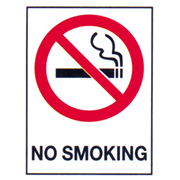 Picture of Safety-Safety Signs Bronson Sign 'No Smoking', Metal, 225 x 300 mm, Each