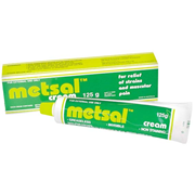 Picture of Physiotherapy and Chiropractic Supplies-Massage Therapy And Pain Relief PAIN RELIEF METSAL CREAM Metsal Heat Rub Cream, 125 grams, Each