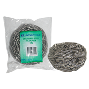 Picture of Cleaning Aids-General Cleansers Industrial Scourers Livingstone Stainless Steel Scourers, 50g, Each, Loose