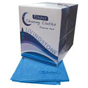 Picture of Wipes-Cleaning Cloths Sofeel Cleaning Cloths Regular Dispenser Per Carton Sofeel Cleaning Cloths, Regular Dispenser Pack, 40 x 30cm, High 70 Percent Viscose, Blue, 40 Cloths per Pack, 240 per Carton