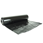 Picture of Universal Cast Stretch Film, Black, Linear, Recyclable LDPE, 500mm x 383m, 23um, Each Universal Cast Stretch Film, Black, Linear, Recyclable LDPE, 500mm x 383m, 23um, Each