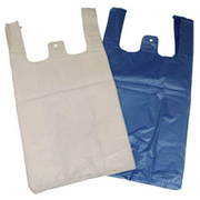 Picture of Food and Packaging Supplies-Singlet Bags Blue Singlet Shopping Bags, 410 x 199 x 110mm, 12 Microns, Small, Blue, 5000 per Carton