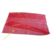 Picture of Cleaning Aids-General Cleansers Laundry Bags Livingstone Laundry Bags with Water-Soluble Stripsat 25degC, 71 x 76cm, 20 Microns, HDPE, Red, 200 per Carton