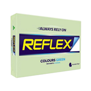 Picture of Stationery-General Stationeries Colours Reflex Premium Tinted Colour Papers, A4, 80 (W) GSM, Carbon Neutral, Biodegradable, Green, 500 Sheets per Ream