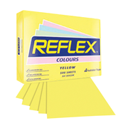 Picture of Stationery Supplies-General Stationeries A4 Copy Paper Reflex Premium Tinted Colour Papers, A4, 80 (W) GSM, Carbon Neutral, Biodegradable, Yellow, 500 Sheets per Ream