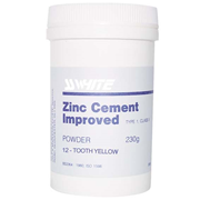 Picture of Dental-Cements & Liners Cements - Zinc Phosphate (Oxyphosphate) SS White Zinc Cement SSW Zinc Cement Powder, 230g, Yellow, Each